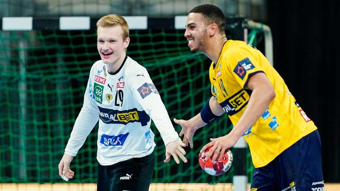 David Späth (li.) hat seinen Vertrag bei den Löwen verlängert.