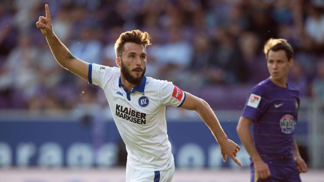 Fabian Schleusener kehrt zum Karlsruher SC zurück.