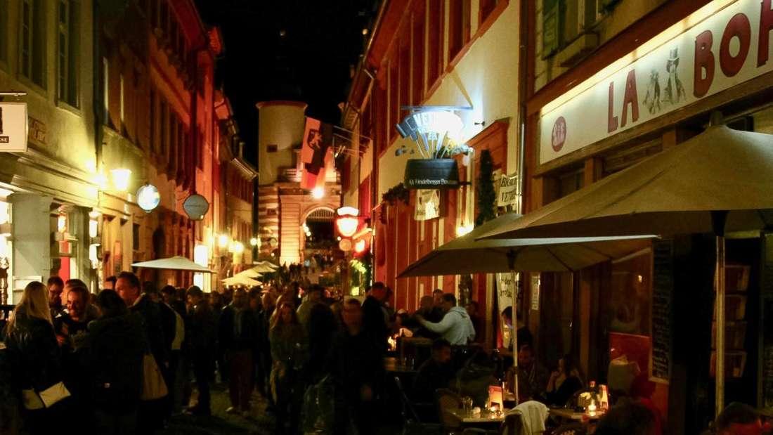 Die Unteren Straße ist ein Ausgeh-Hotspot in Heidelberg.