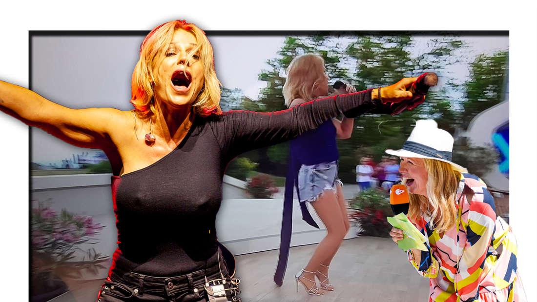 ZDF-Fernsehgarten: Outfit von Michelle sorgt für Lästereien bei den Schlagerfans (Fotomontage)