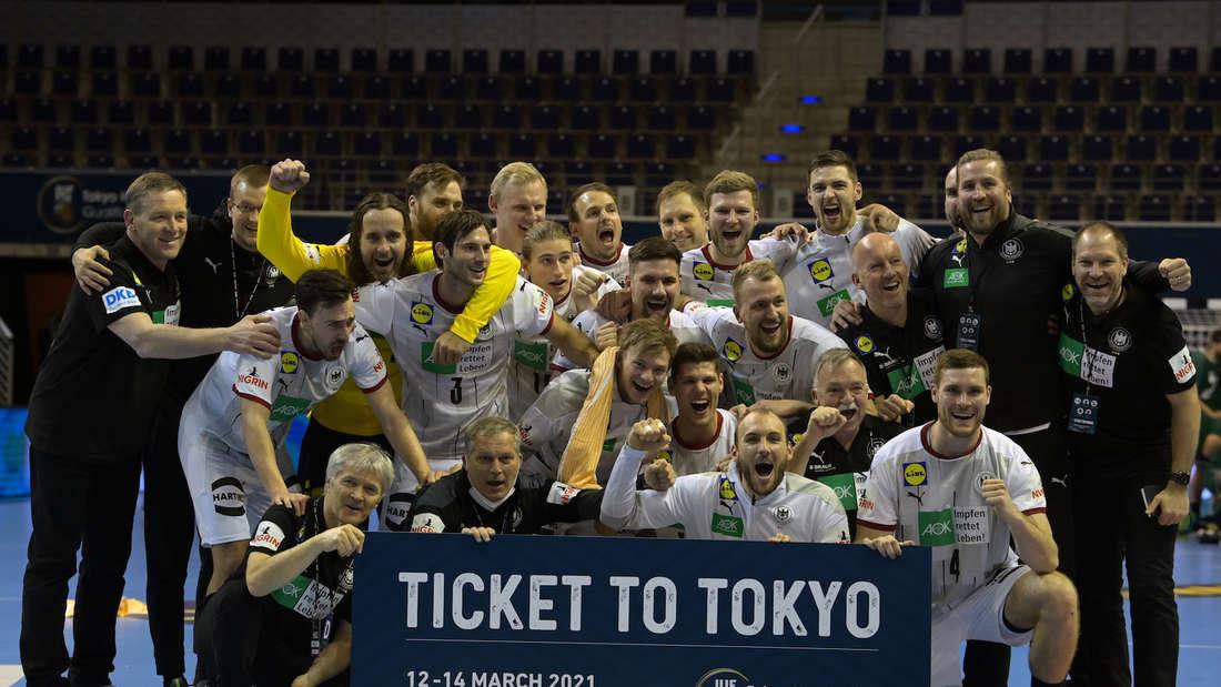 Das DHB-Team hat sich im März 2021 für Olympia in Tokio qualifiziert.