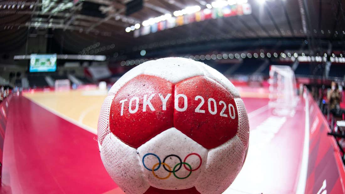 Handball-Turnier: Der offizielle Spielball bei Olympia 2021.