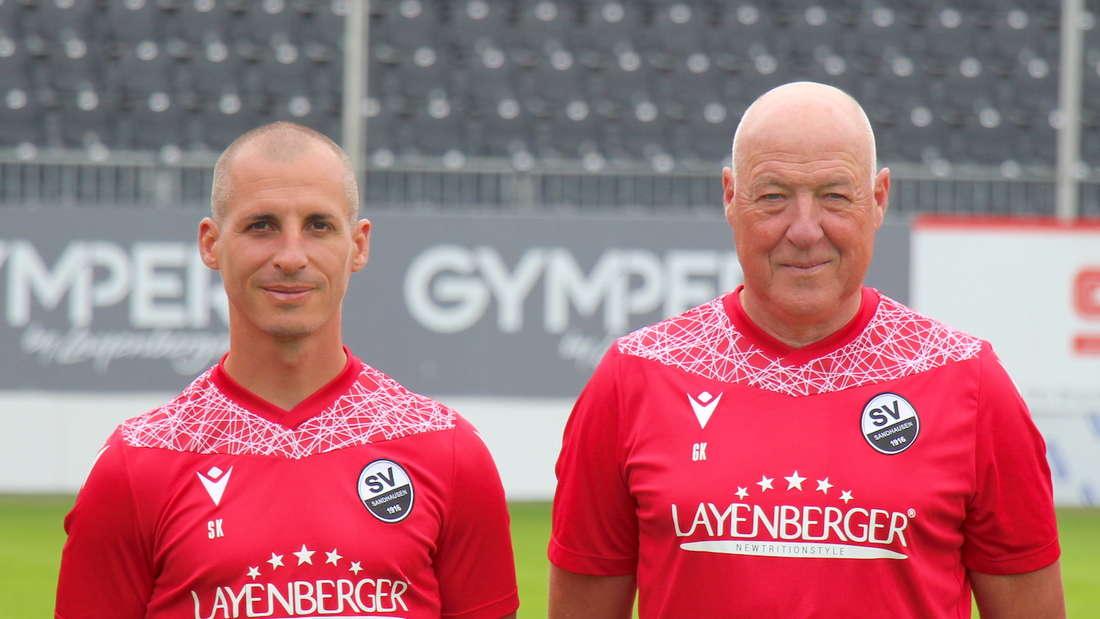 Das Sandhauen-Trainerduo: Stefan Kulovits (l) und Gerhard Kleppinger (r.).