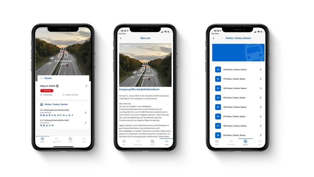 """Die neue """"Autobahn App"""" der Autobahn GmbH"""