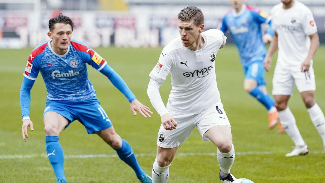 Denis Linsmayer (r) kann den SV Sandhausen verlassen.
