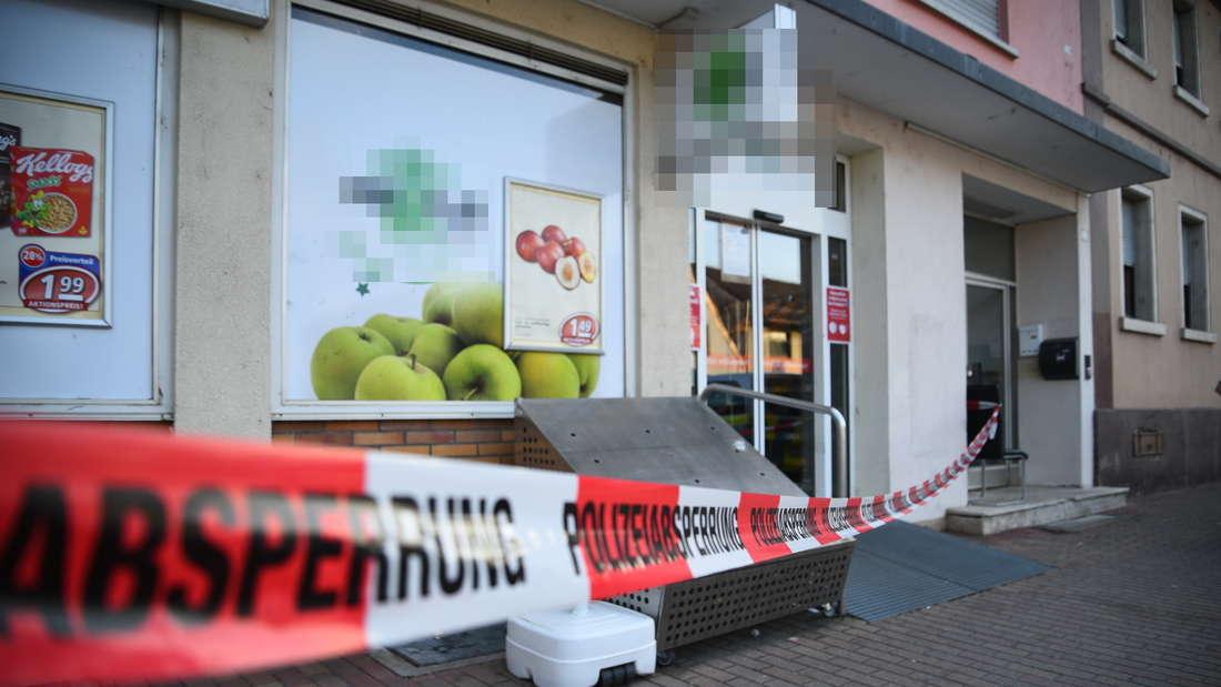 Raub auf Supermarkt in Edingen-Neckarhausen; Täter flüchtig (23. Juli 2021).