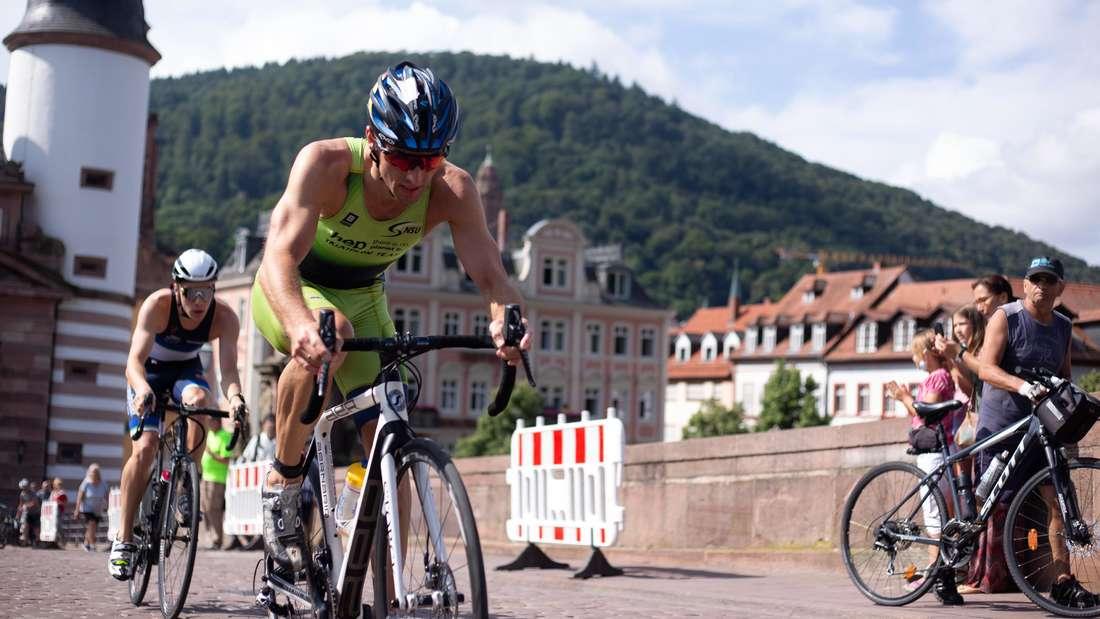 """Impressionen vom Triathlon """"HeidelbergMan"""" am 25. Juli 2021 in Heidelberg."""