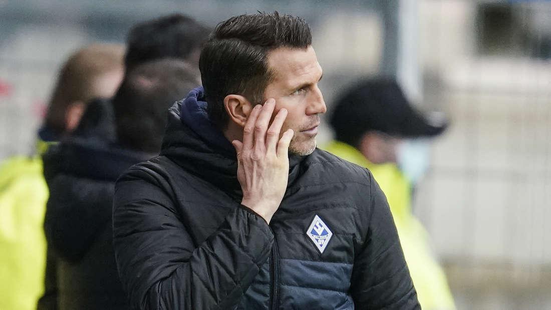 Waldhof-Trainer Patrick Glöckner haderte mit dem nicht gegebenem Elfmeter.