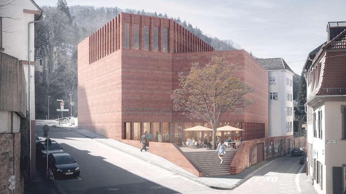 So soll der Neubau des Dokumentations- und Kulturzentrum Deutscher Sinti und Roma in Heidelberg aussehen.