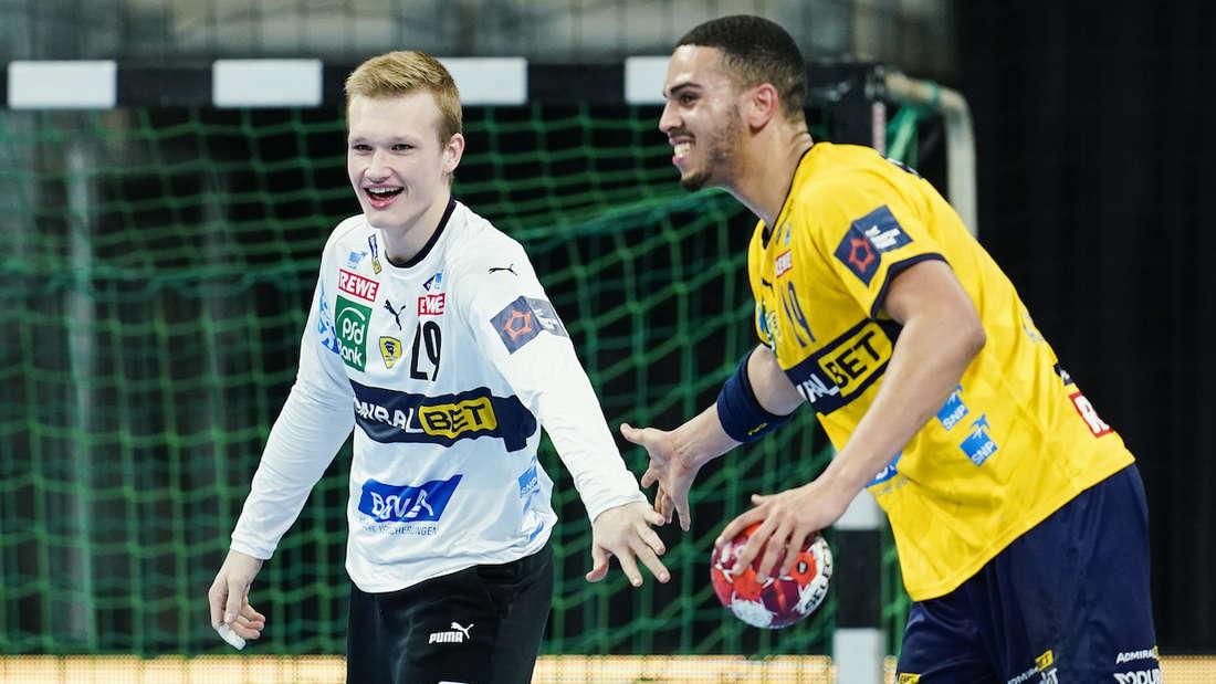 Zwei Löwen-Talente: Philipp Ahouansou (re.) und David Späth.