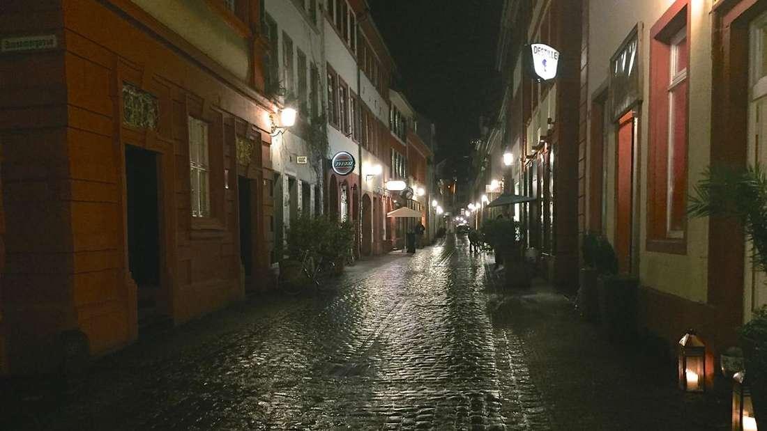Die untere Straße in Heidelberg