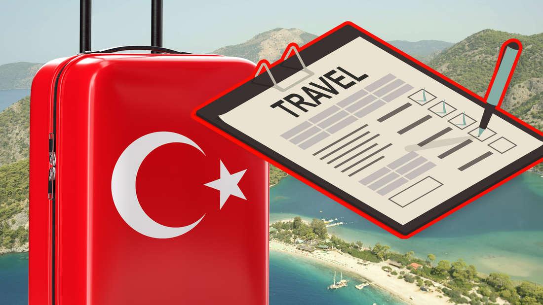 Vor dem Türkeiurlaub müssen Urlauber ein Einreiseformular ausfüllen. (Fotomontage)