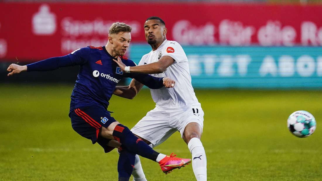 Das letzte Duell gegen den HSV hat Sandhausen mit 2:1 gewonnen.