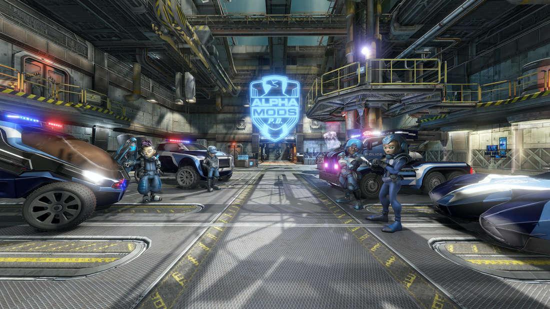 "In ""Alpha Mods P.D."" kann man im Europapark Rust virtuelle Kriminelle fangen."