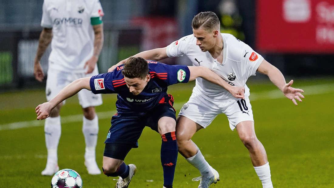 Der SV Sandhausen gastiert beim Hamburger SV.
