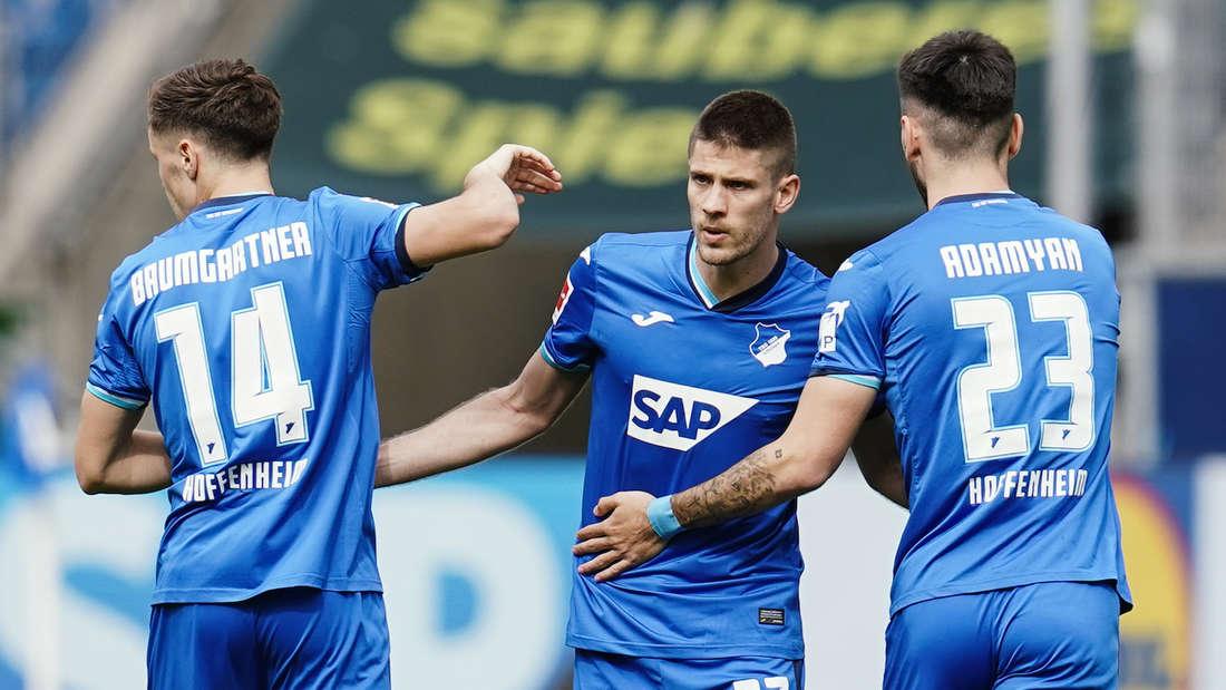 Andrej Kramaric (M.) spielt seit 2016 bei der TSG Hoffenheim.