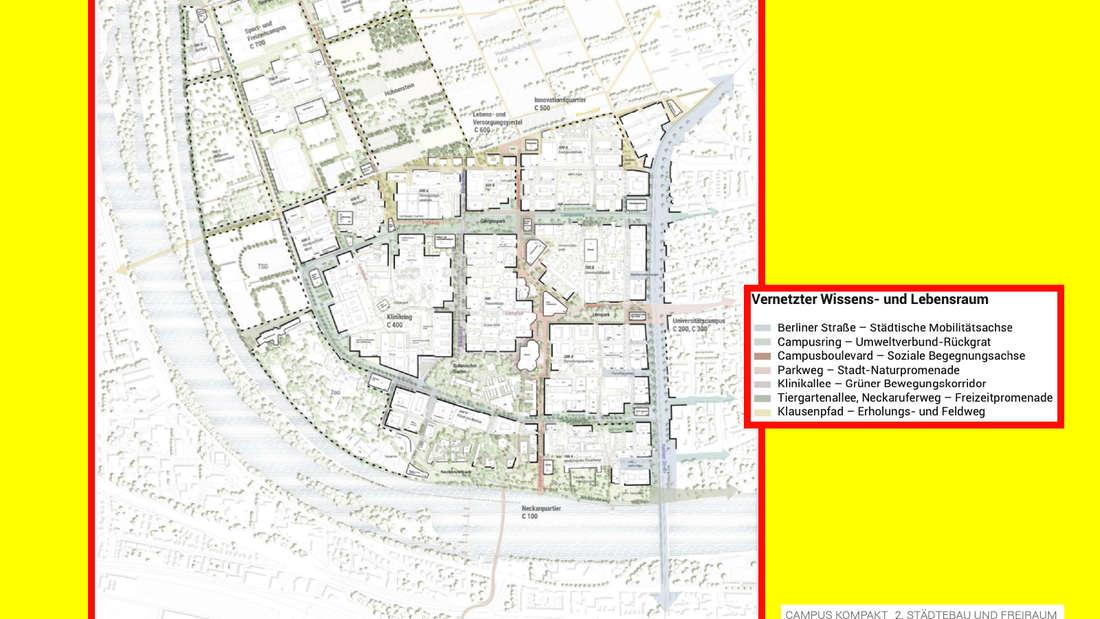 Städtebaulicher Entwurf für den Campus Neuenheimer Feld vom Team Höger.