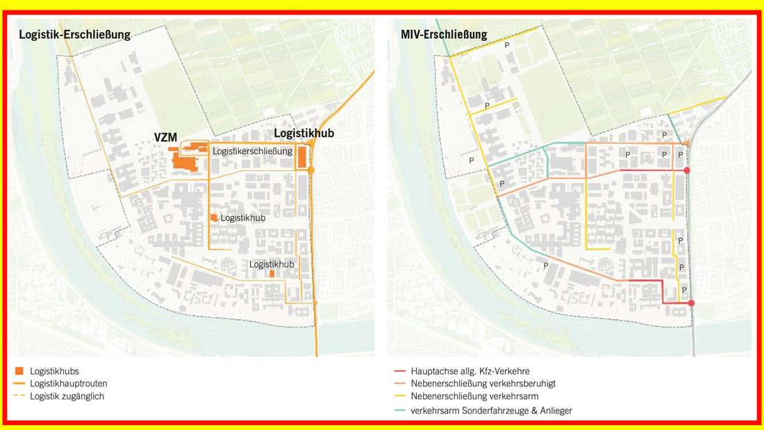 So stellt sich Astoc die verkehrliche Erschließung des Campus Neuenheimer Feld vor.