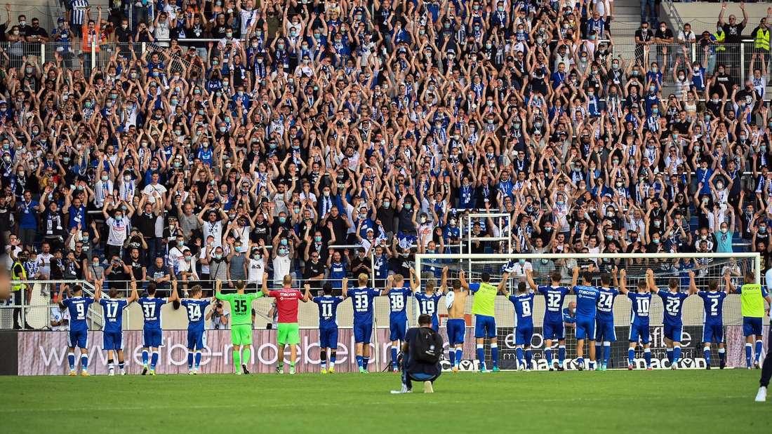 Seit dieser Saison dürfen wieder Fans in den BBBank Wildpark in Karlsruhe.