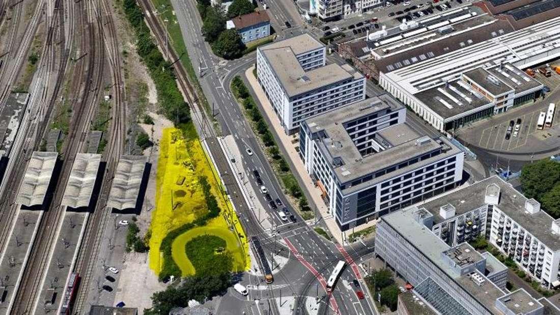 Geplante Bauplätze Intercity- und Adagio Aparthotel