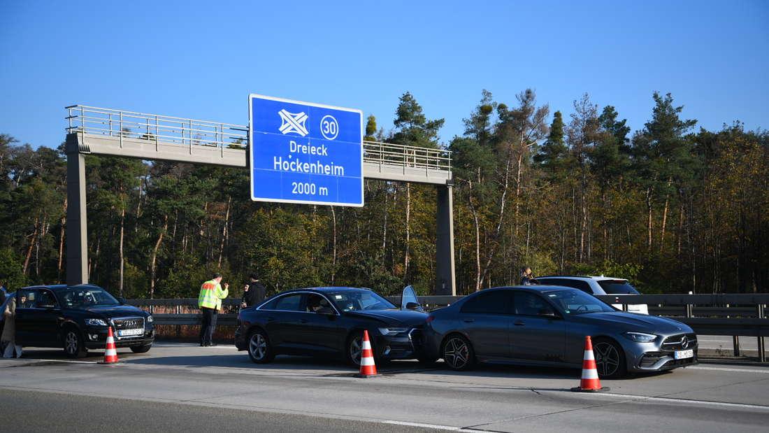 Hockenheim: Unfall auf der A6 (9. Oktober).