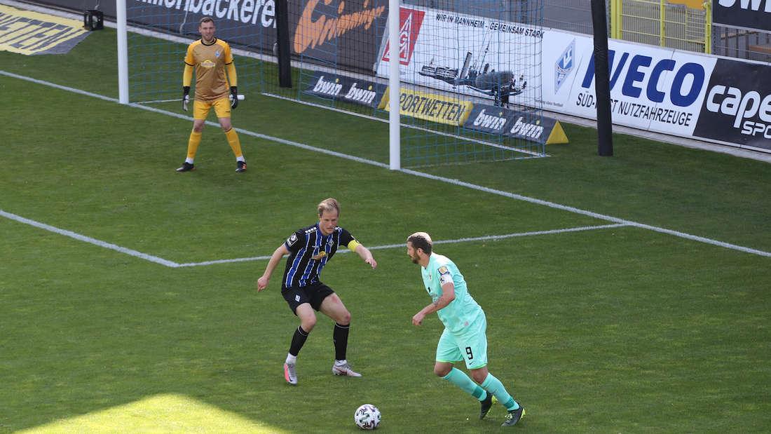 Marcel Seegert kann die Niederlage des SV Waldhof gegen 1860 München im letzten Duell nicht verhindern.